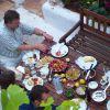 Vorbereitungen zum Hoffest, Juni 2005